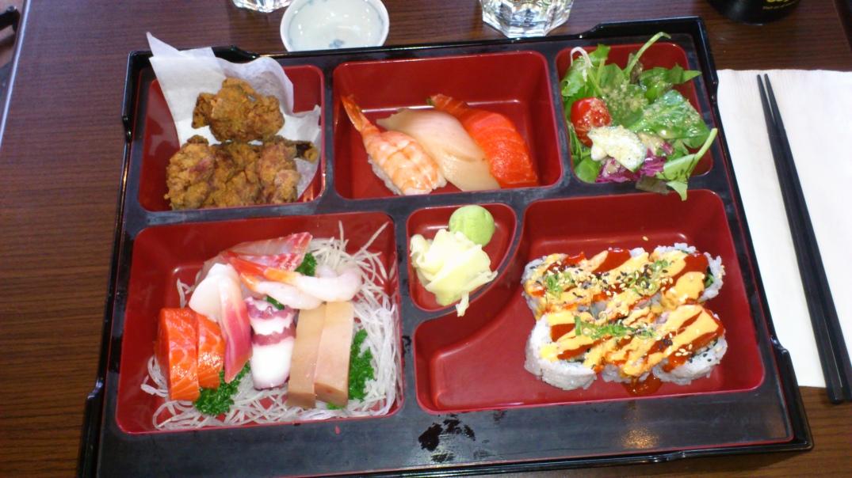 Sushi & sashimi bento box