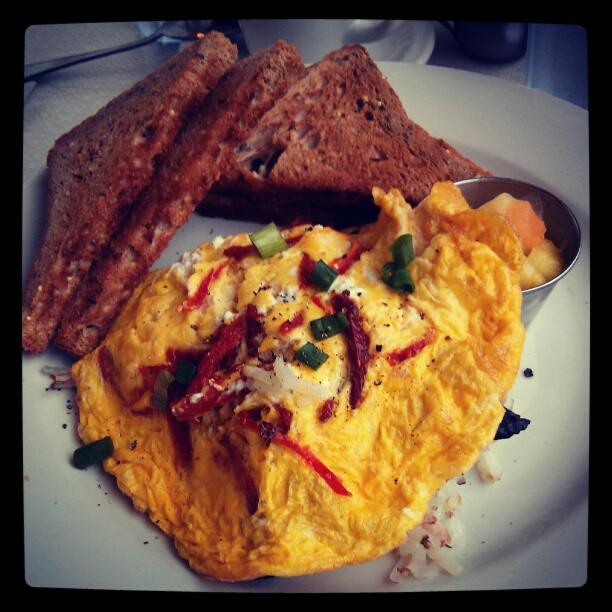 Baked egg scramble
