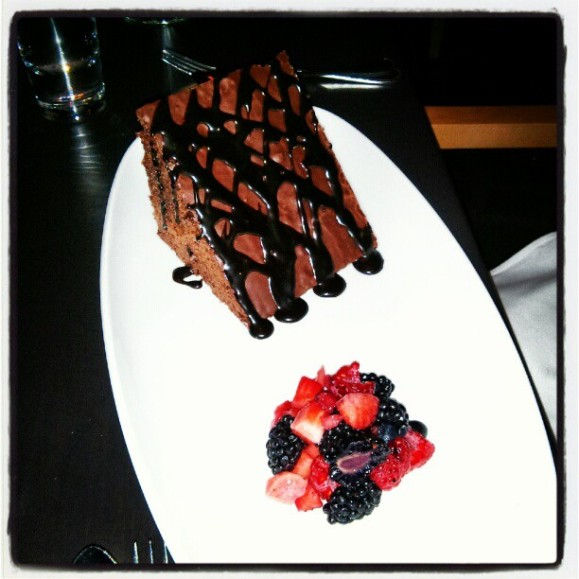 Mosaic's signature chocolate cake