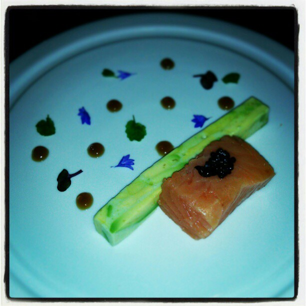 Warm a la minute smoked Skuna Bay salmon