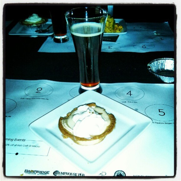 Salted caramel banana custard tart pair with Odin's Thor's Equinox Strong Ale