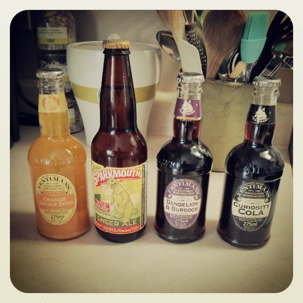 Delicious craft sodas