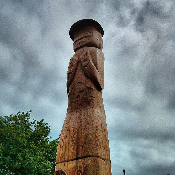 Totem pole in Whistler Village