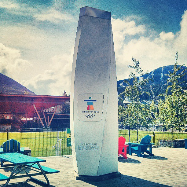 The 2010 Olympic cauldron.