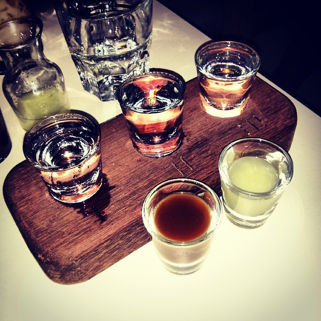 Mezcal flight