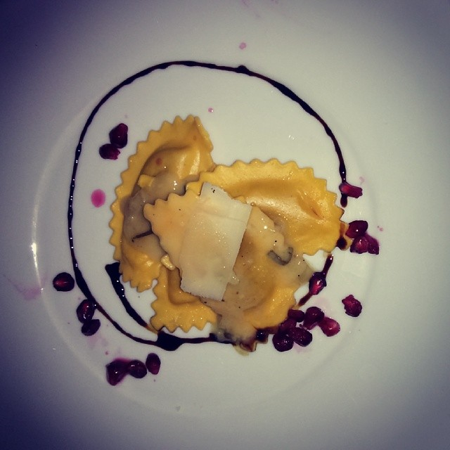 Pumpkin Ravioli with Brown Butter.