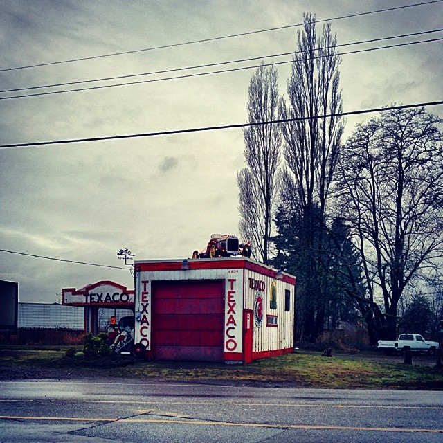 Day 3. A 1950's Texaco gas station on 216th street in Langley.