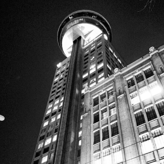 Harbour Centre at night