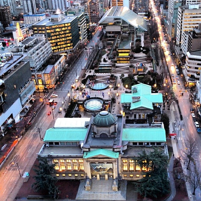 Robson Square from HSBC 2