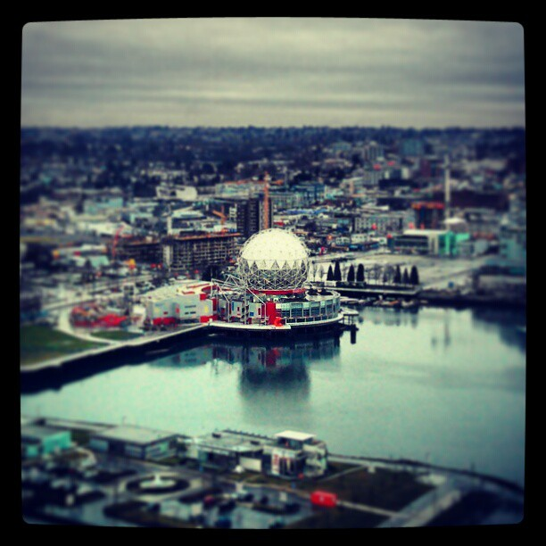 Science World and False Creek from Espana B