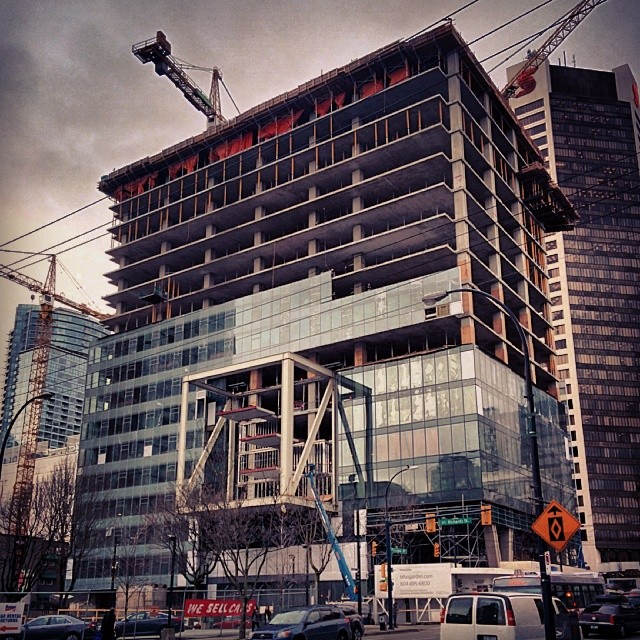 Telus Gardens construction