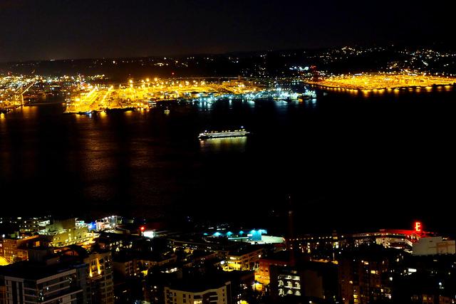 Elliot Bay at night
