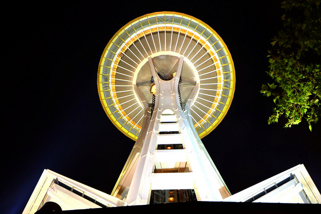 Saturday night at the Space Needle