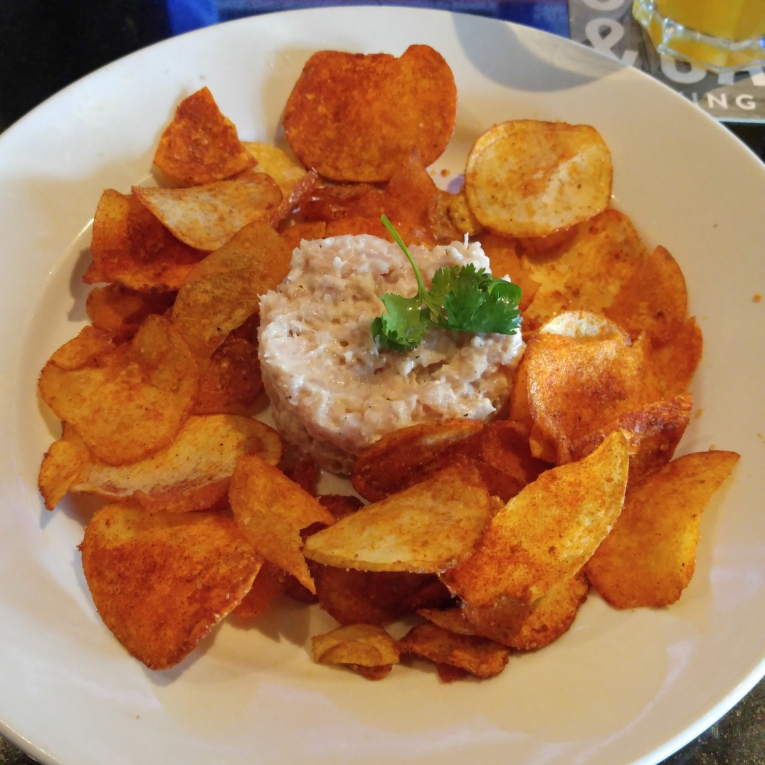 Albacore Tuna Tartare with house made BBQ chips