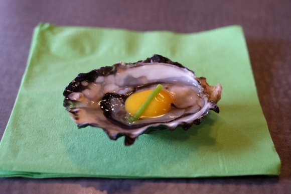 Beer dinner - Plated oyster