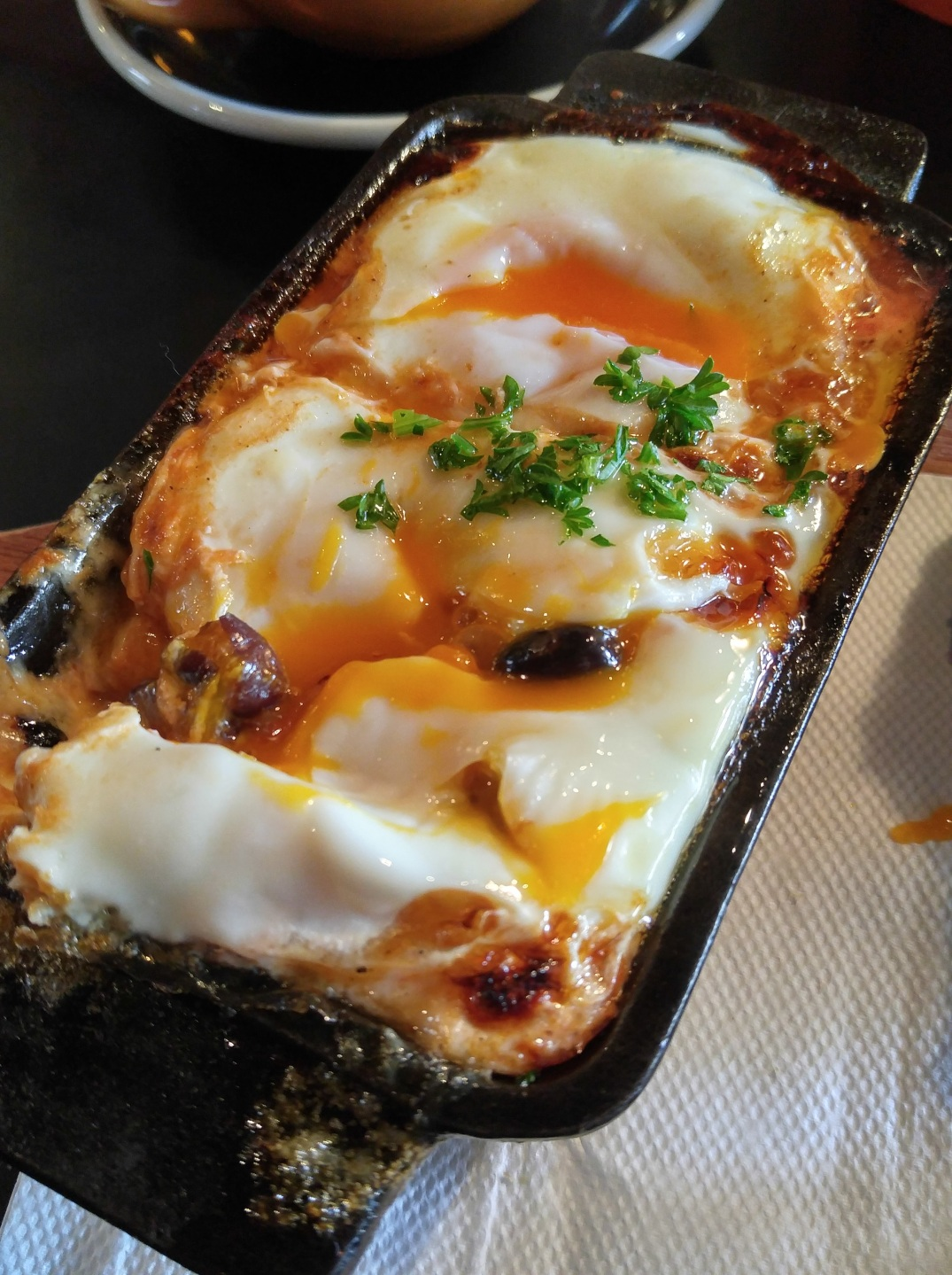 Baked Spanish Eggs at Fidel's Cafe