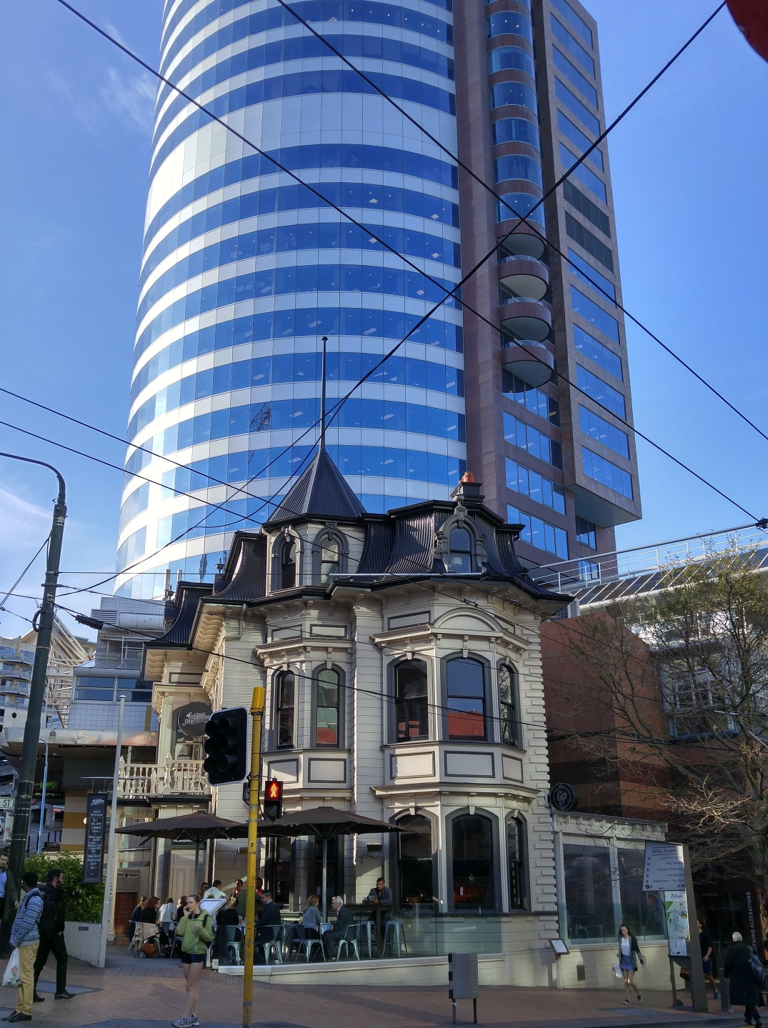 Wellington architecture is a constant juxtaposition.